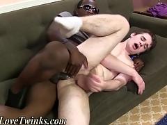 Gay gets interracial sex