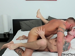 Troy Daniels gets his bore torn up away exotic his horny tattooed masseur