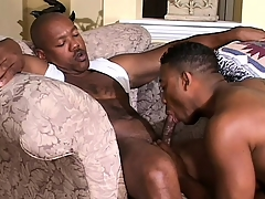 Cute black twink has a muscled ebony timber drilling his in the punch-line opening