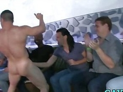 Gays suck male stripper bushwa