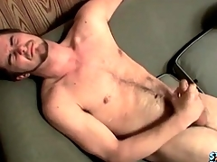 Cumshot lands beyond everything his hairy stomach