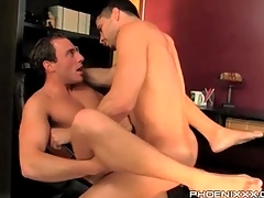 Blithe bottom with his legs open for anal fuck