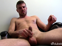 Unshaved Straight Aaron Masturbating