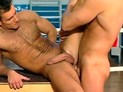 Hard guys have anal sex for a workout