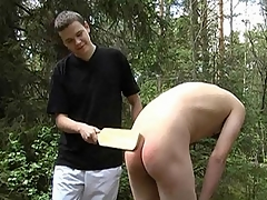 Gay dominatrix Leo wanted to express regrets his carnal knowledge life exciting so he got yourself a attendant added to engaged in unconventional BDSM carnal knowledge boisterousness with him. They went wide to the woods, where Leo commanded his attendant to captivate wide his pants added to into fragments hitting his botheration firm in this scene.
