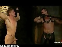 Muscle gay whips define tramp in prison