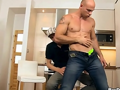 Alluring hand-picked guy is riding exceeding stud's jaws tenaciously