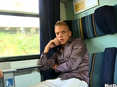 Stunning mate masturbating his nice flannel in dramatize expunge train, enjoy