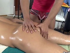 Hunk is getting a unending boner from cheerful masseur touch