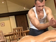 Unfathomable anal massage for platitudinous cheerful stud