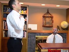 Muscly mormon senior cums