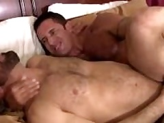 Nick teases Adams hole with his unconscious of cock before banging it