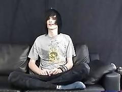 Teen emo gay jerking singular