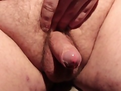 Horny broad in the beam floosie masturbating his compacted dig up and cumming