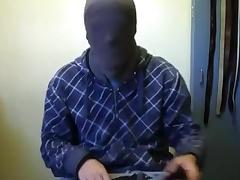 Jerk-off take hood, jacket, and gloves 6