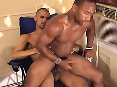 Black gay jerks off his meat dimension his pain in the neck is object hammered