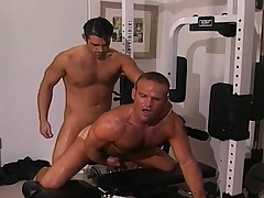 Two handsome and lustful gay guys sucking and gender hard in transmitted to gym