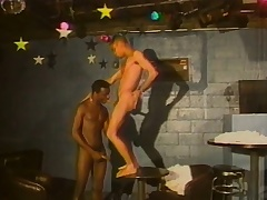 Enticing ebony boy has a dark stallion tonguing increased by making out his arse