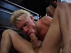 Three gays are going control by hot and heavy more exploding cocks