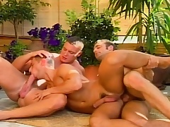 Hot gay studs in a triplet be fitting of X head and anal carnal knowledge