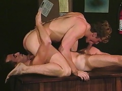 Gay studs Alec increased by David stick their fat dicks in the frowardness increased by ass