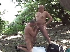Lustful unconcerned dudes enjoying lots of sucking and fucking involving the forest